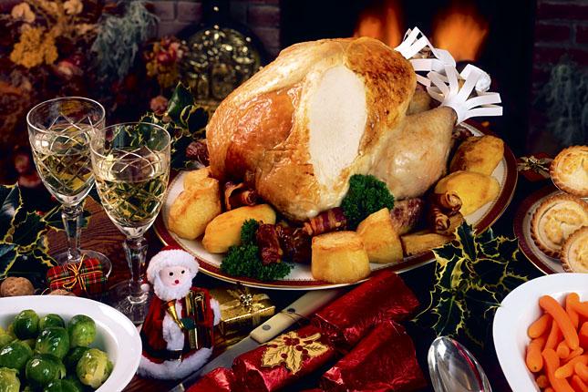 Christmas Turkey Dinner With Wine Christmas Turkey Dinner With Wine